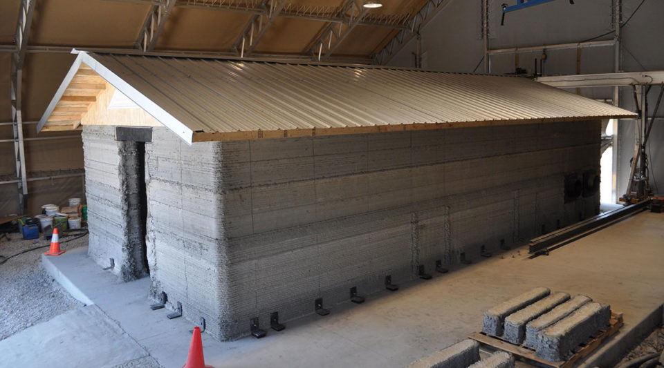 3D printed concrete building