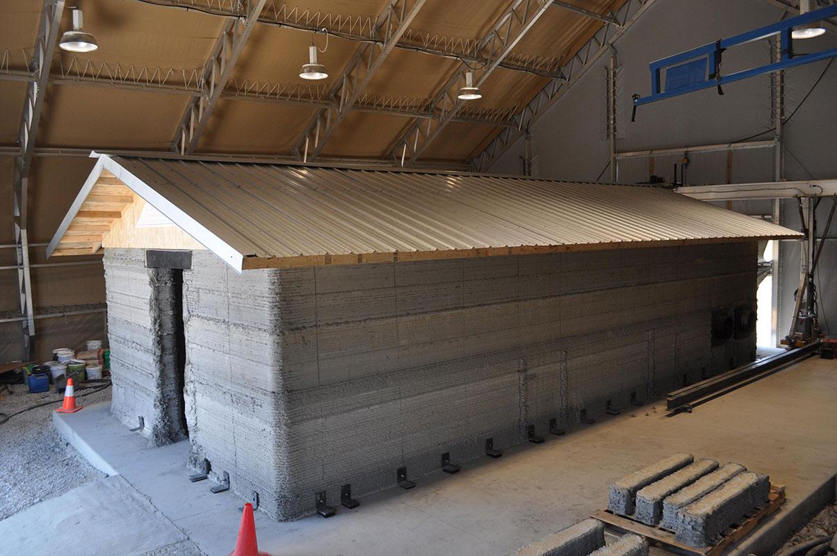 3D printed concrete building
